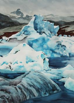watercolor, Iceland, paintings
